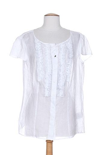 luisa cerano chemises femme de couleur blanc