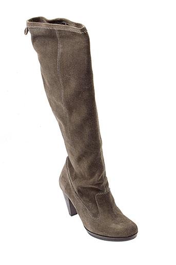 rosemetal bottes femme de couleur gris
