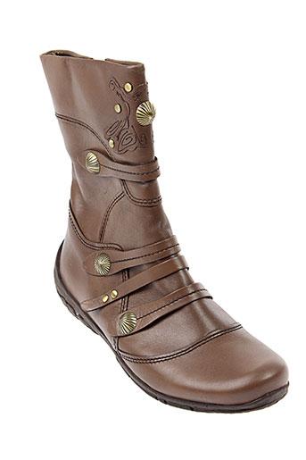 bocage bottines femme de couleur marron