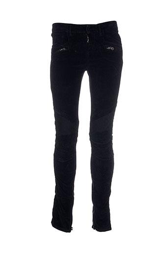 Pantalon casual noir FREE SOUL pour femme
