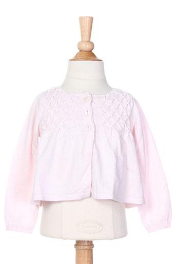 jean bourget gilets fille de couleur rose