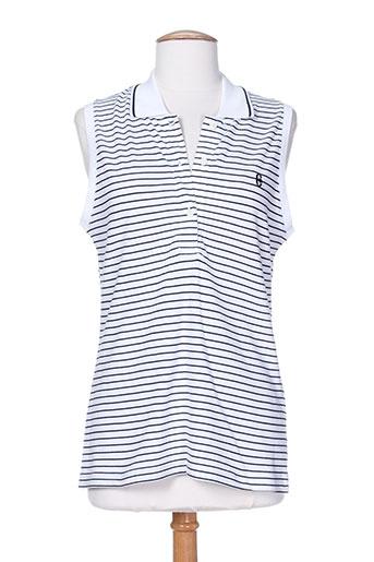 conte of florence t-shirts femme de couleur bleu