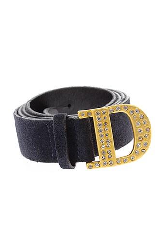 dismero ceintures femme de couleur bleu