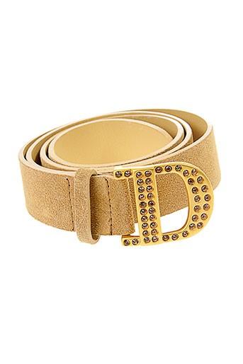 dismero ceintures femme de couleur beige