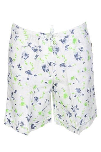 belfe shorts / bermudas femme de couleur blanc