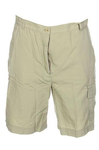 conte of florence shorts / bermudas femme de couleur beige