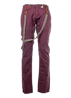 deeluxe pantalons et decontractes homme de couleur violet
