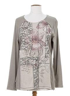bagoraz t-shirts / tops femme de couleur gris