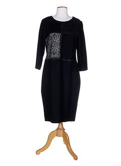 christine laure robes femme de couleur noir