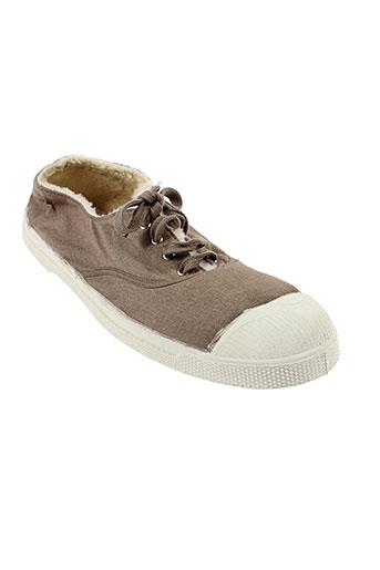 bensimon chaussures femme de couleur marron