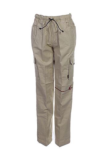 ddp pantalons garçon de couleur beige
