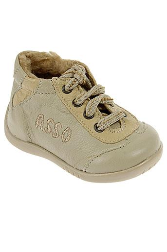 asso chaussures enfant de couleur beige