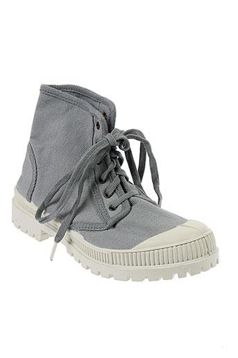 natural et world boots femme de couleur gris