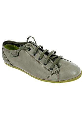 palladium baskets femme de couleur gris
