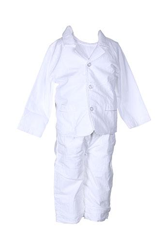 wiplala t et shirt et pantalon garcon de couleur blanc