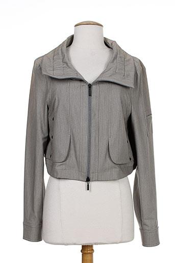 lauren vidal vestes femme de couleur gris