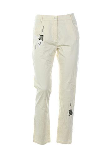 mademoiselle ambre pantalons femme de couleur beige