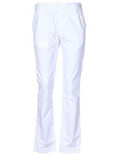 teddy smith pantalons fille de couleur blanc