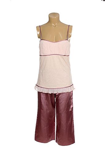 le et chat pyjamas femme de couleur rose