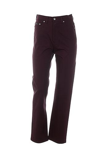 pionier pantalons femme de couleur rouge