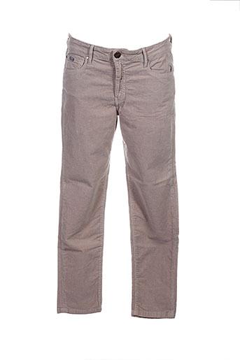 islow pantalons femme de couleur beige