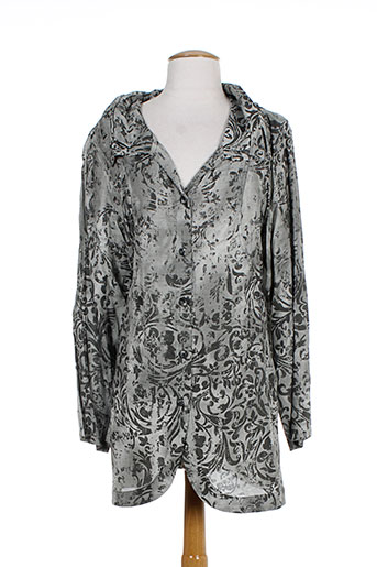 cannisse chemises femme de couleur gris