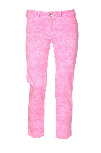notify pantacourts femme de couleur rose