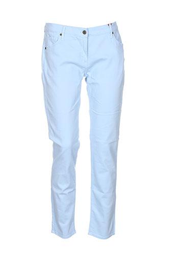 scapa pantalons femme de couleur bleu
