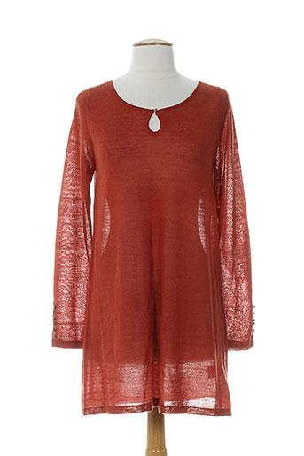 lauren vidal pulls femme de couleur orange