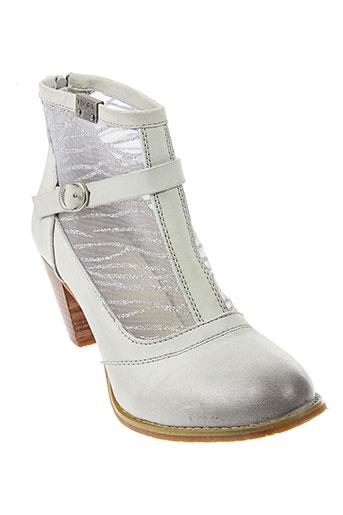 kdopa boots femme de couleur gris