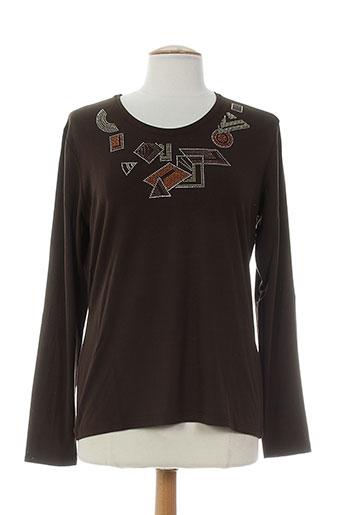 jean delfin t-shirts femme de couleur marron