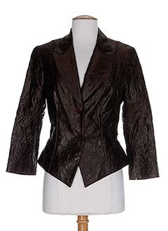 Veste chic / Blazer marron HELENA SOREL pour femme
