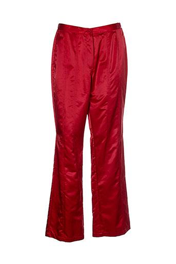 animale pantalons femme de couleur rouge