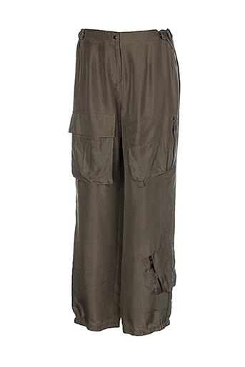 animale pantalons femme de couleur vert