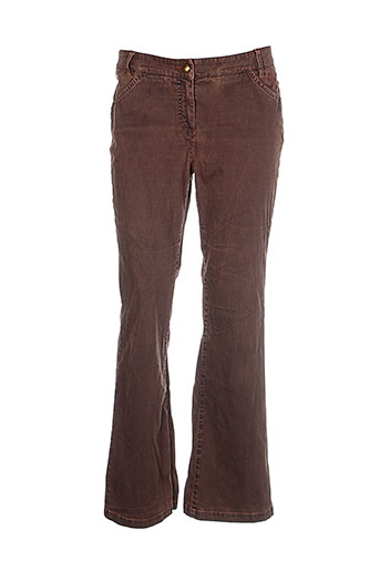 zaffiri pantalons femme de couleur marron