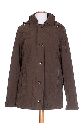 Manteau court marron CASUAL WEAR pour femme