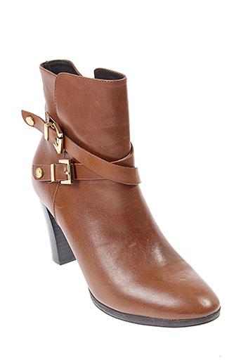 jb et martin boots femme de couleur marron
