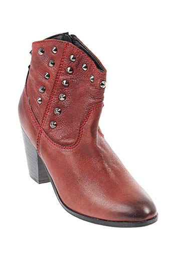 lola et cruz boots femme de couleur rouge