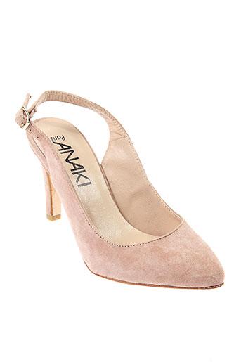 anaki escarpins femme de couleur rose