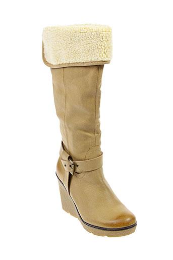 playa bottes femme de couleur beige