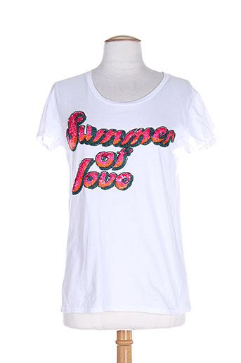 ambre babzoe t-shirts femme de couleur blanc