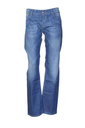 leg end jeans homme de couleur bleu