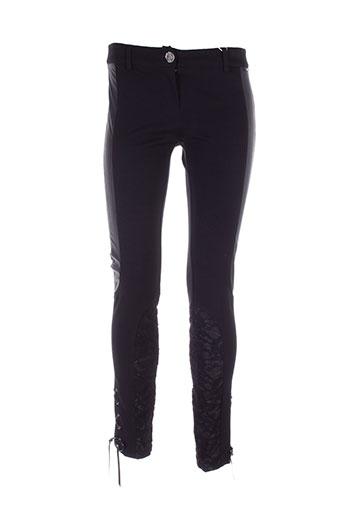 cappopera couture pantalons femme de couleur noir