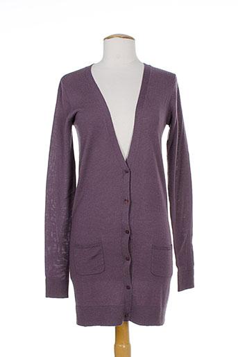 fine collection gilets femme de couleur violet