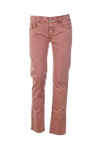 manila grace pantalons femme de couleur rose