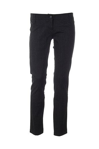 alysi pantalons femme de couleur noir