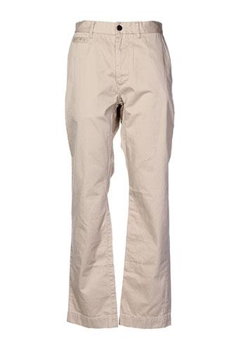 jachs pantalons homme de couleur beige