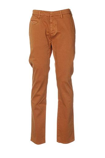 true nyc pantalons homme de couleur marron