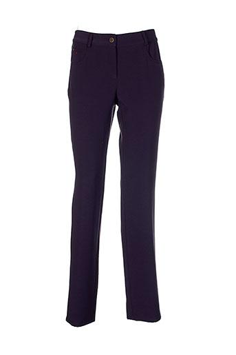 mafecco pantalons femme de couleur violet