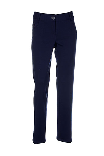 mafecco pantalons et decontractes femme de couleur bleu